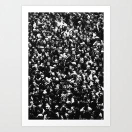 The Crowd Art Print