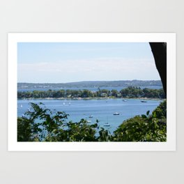 Harbor Springs Bay, View from Bluff (2) Art Print