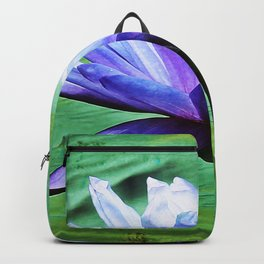 Purple Water Lily Backpack