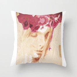Flower portrait Throw Pillow