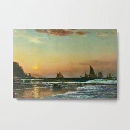 'Sunset on the Coast' maritime / nautical landscape painting Metal Print