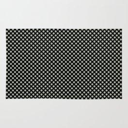 Black and Desert Sage Polka Dots Rug
