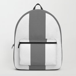 Wide Vertical Stripes - White and Gray Backpack