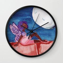 Fairy in the Moonlight Wall Clock