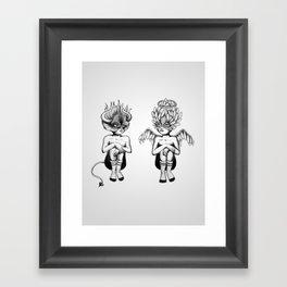 Good or Bad? Framed Art Print
