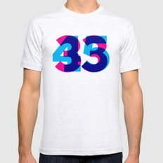 33/45 LARGE Ash Grey Mens Fitted Tee