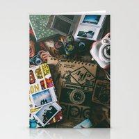 cameras Stationery Cards featuring Cameras by Roxana Rios