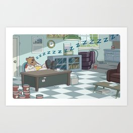 Snoozing Otto Art Print
