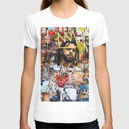 J Cole Portrait Artwork T-shirt