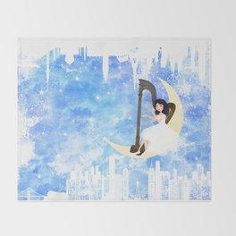 Harp girl 5: Connection Throw Blanket