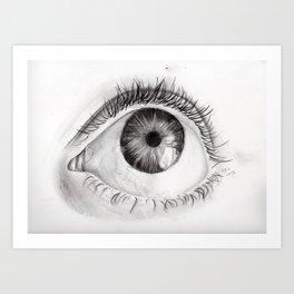 Eye Drawing Art Print