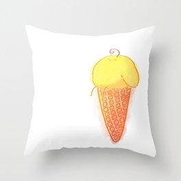 ballcream Throw Pillow