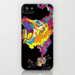 Psychedelic Bear Roar iPhone Case