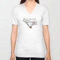 tolkien V-neck T-shirts featuring That's what I'm Tolkien about by Adam Dens