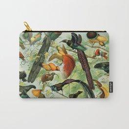 """Adolphe Millot """"Oiseaux"""" Tropical Birds Nouveau Larousse 1905 Carry-All Pouch"""
