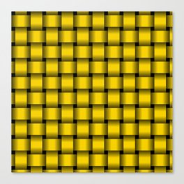 Gold Yellow Weave Canvas Print