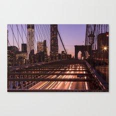 Brooklyn Bridge By Night Canvas Print