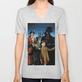 Darth Vader in Mary Poppins Unisex V-Neck