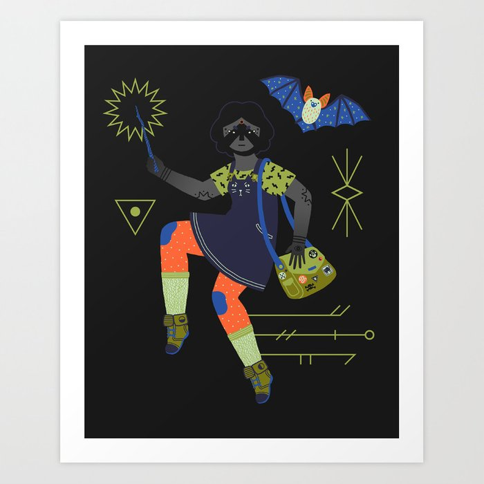 Witch Series: Magic Wand Art Print