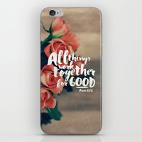 pocketfuel iPhone & iPod Skins featuring All Things Work Together For Good (Romans 8:28) by Pocket Fuel