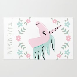 Unicorn portrait Rug