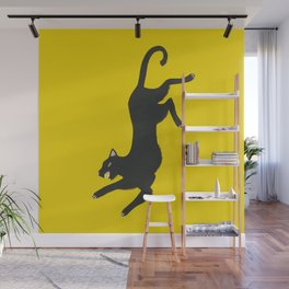 Yellow Panther Wall Mural