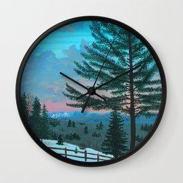 VT Cabin View Wall Clock