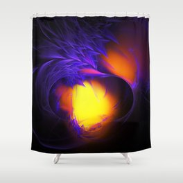Dragon's Lair Dawning Shower Curtain