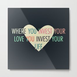 Investment Metal Print