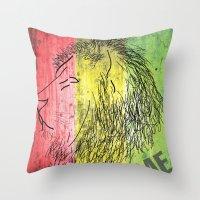 reggae Throw Pillows featuring Reggae Lions by Teo Designs