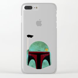 Boba Fett Clear iPhone Case
