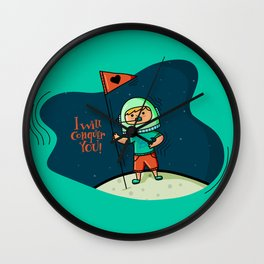 I will conquer you! Wall Clock