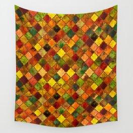 Autumn Arabesque Digital Quilt Wall Tapestry