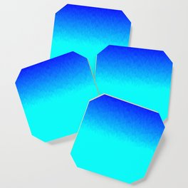 Electric Blue Ombre flames / Light Blue to Dark Blue Coaster