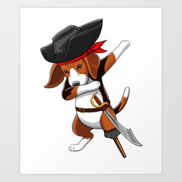 Pirate Beagle Viking Novelty Halloween Art Print