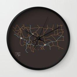 Montana Highways Wall Clock