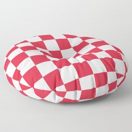 Red, Cherry: Checkered Pattern Floor Pillow