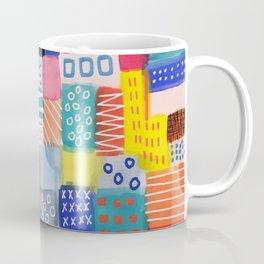 Venice Beach Rainbow Abstract Cityscape Coffee Mug