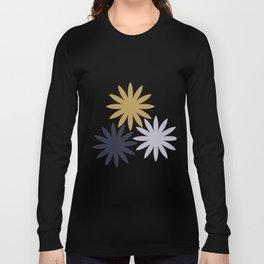 Three Flowers Long Sleeve T-shirt