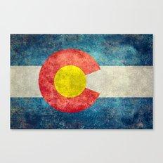 Colorado State flag - Vintage retro style Canvas Print