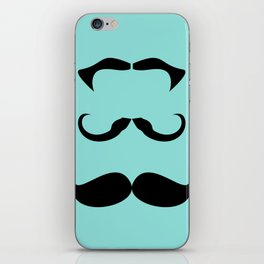 Mustache 3 of a Kind iPhone Skin