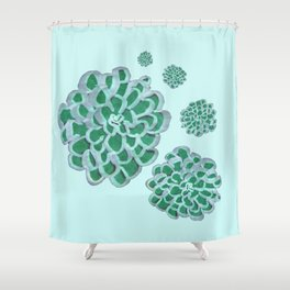 Floral Cluster Shower Curtain