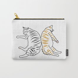 Two Cats Resting Together Carry-All Pouch