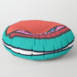 """""""All-nighter"""" Surviving Art School Badge Floor Pillow"""