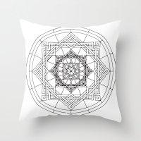 celtic Throw Pillows featuring celtic by blacksparrow