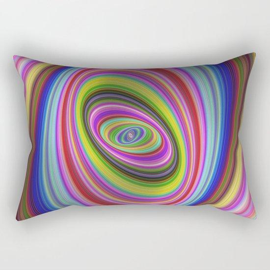 Colorful hypnosis Rectangular Pillow