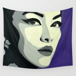 Lady Black Wall Tapestry