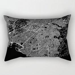 Athens Black Map Rectangular Pillow