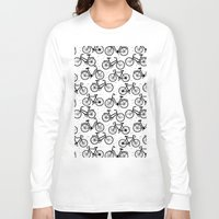 bikes Long Sleeve T-shirts featuring Bikes by sarknoem