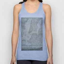 Vintage Map of New York City (1776) Unisex Tank Top